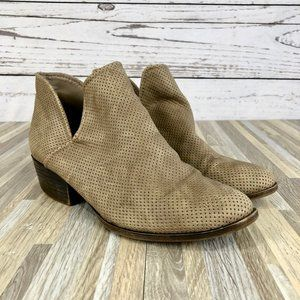 Madden Girl Hether Tan Ankle Booties Size 7